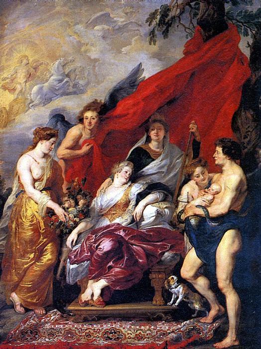 РУБЕНС ПИТЕР ПАУЭЛ - Рождение Людовика XIII.. Louvre (Paris)