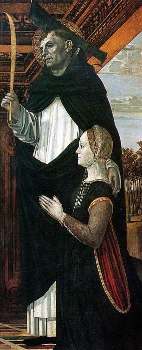 БЕРГОНЬОНЕ - Св. Петр-мученик с женщиной-донатором.. Лувр (Париж)