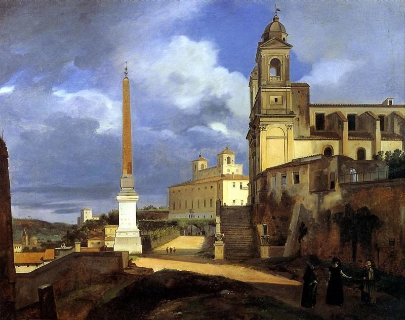 ГРАНЕ ФРАНСУА МАРИУС - Церковь Тринита деи Монти в Риме, 1808.. Louvre (Paris)