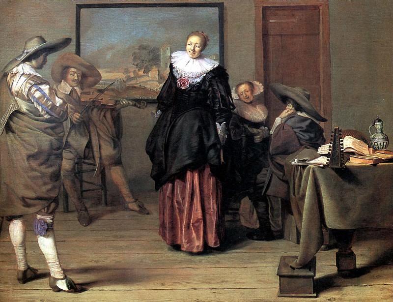 Кодде Питер Якоб - Юноша и сводня.. Louvre (Paris)