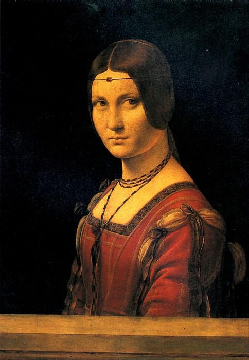 ЛЕОНАРДО ДА ВИНЧИ - Портрет дамы при миланском дворе.. Louvre (Paris)
