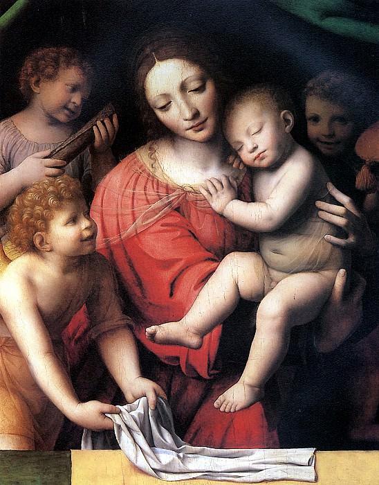 ЛУИНИ - Мадонна со спящим Христом и три ангела.. Louvre (Paris)