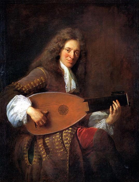 ТРУА ФРАНСУА ДЕ - Шарль Мутон, играющий на лютне, 1690.. Лувр (Париж)