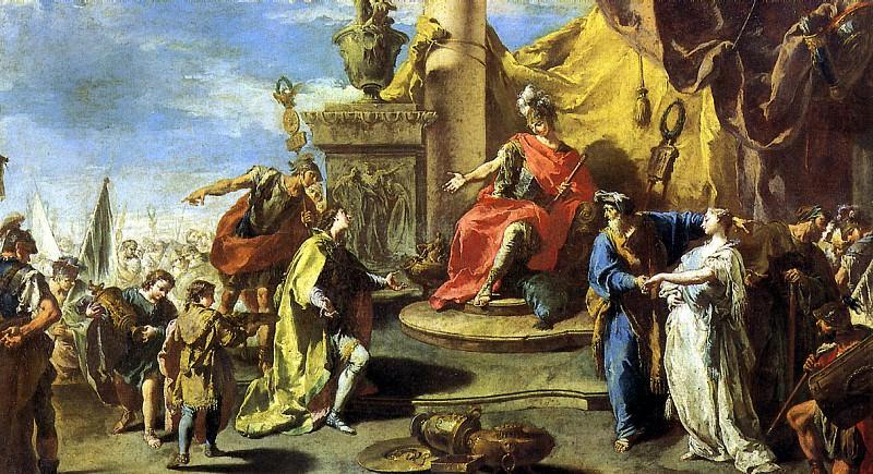 ПИТТОНИ ДЖОВАННИ БАТТИСТА - Великодушие Сципиона.. Louvre (Paris)