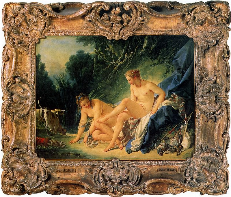 БУШЕ ФРАНСУА - Диана после купания, 1742.. Louvre (Paris)