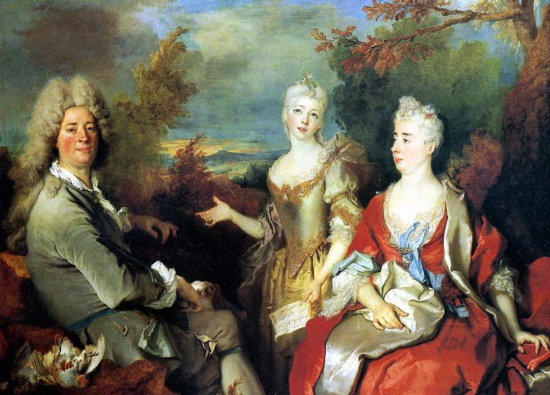 ЛАРЖИЛЬЕР НИКОЛА - Семейный портрет.. Лувр (Париж)