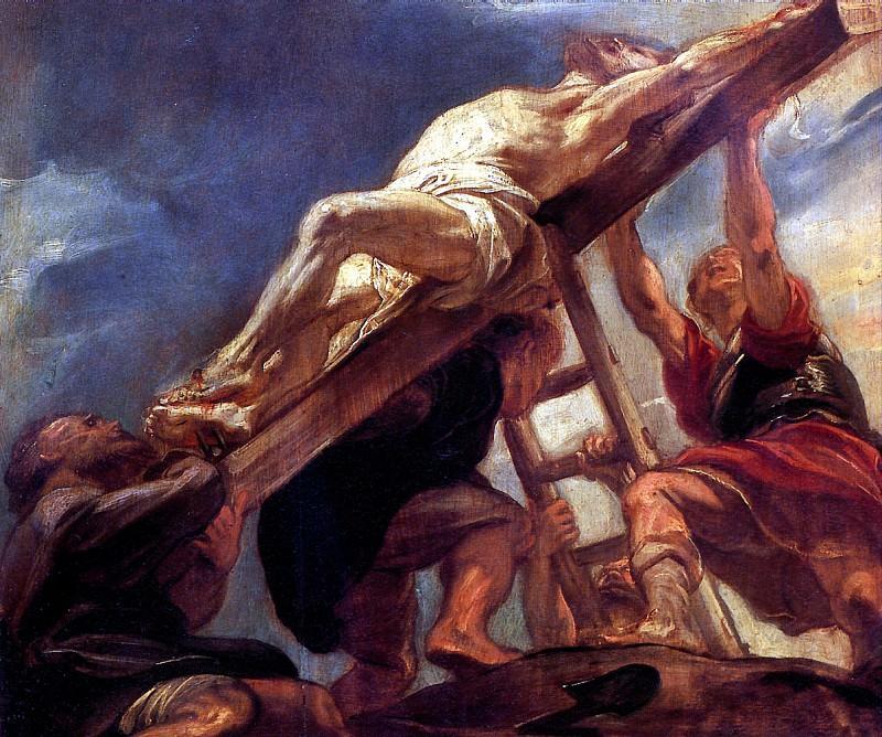 РУБЕНС ПИТЕР ПАУЭЛ - Водружение креста.. Louvre (Paris)