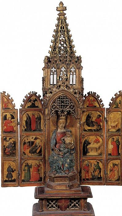 НИЖНЕРЕЙНСКИЙ МАСТЕР - Переносной алтарь со сценами из жизни Богоматери и детства Христа.. Лувр (Париж)