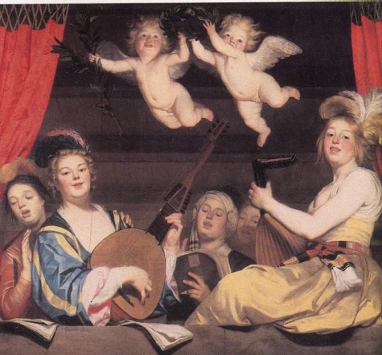 ХОНТХОРСТ ГЕРРИТ ВАН - Концерт, 1624.. Лувр (Париж)