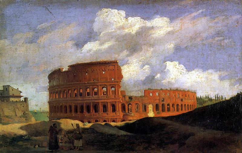 МИШАЛОН АШИЛ ЭТНА - Вид Колизея в Риме.. Louvre (Paris)