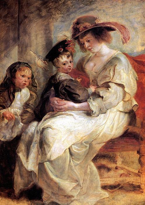 РУБЕНС ПИТЕР ПАУЭЛ - Елена Фоурмент с детьми Клер-Жанной и Франсуа, ок. 1636-1637.. Louvre (Paris)
