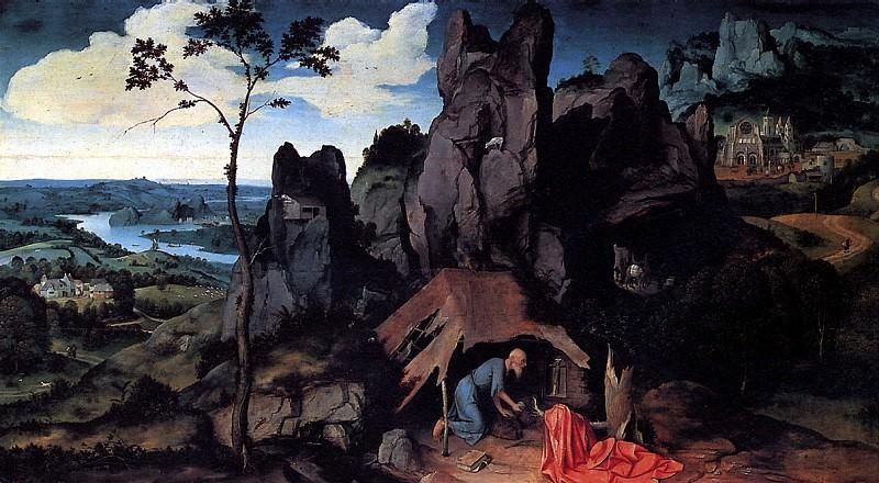 ПАТИНИР ИОАХИМ - Св. Иероним в пустыне.. Louvre (Paris)