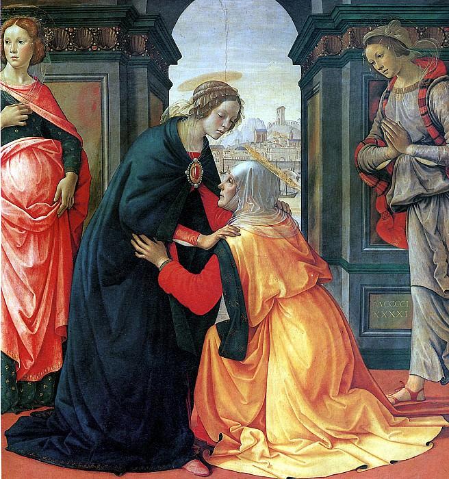 ГИРЛАНДАЙО ДОМЕНИКО - Встреча Марии и Елисаветы.. Louvre (Paris)