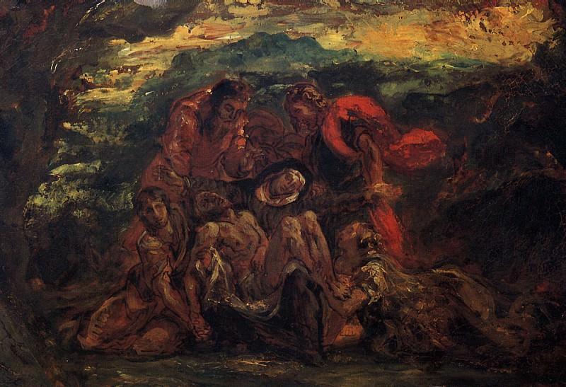 ДЕЛАКРУА ЭЖЕН - Пьета.. Louvre (Paris)