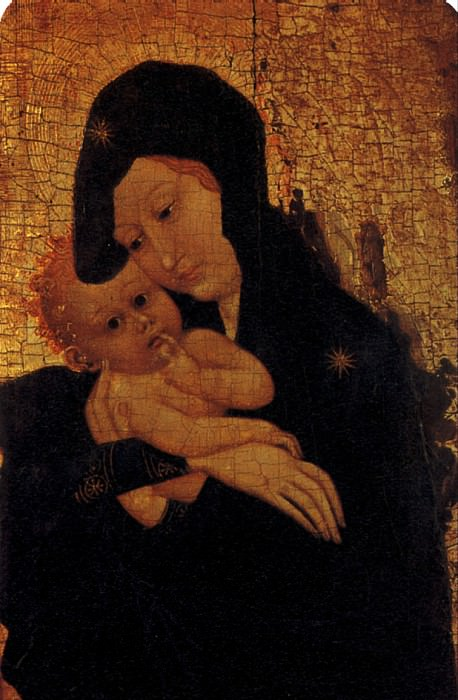 ДИЖОНСКАЯ ШКОЛА - Мадонна с младенцем.. Louvre (Paris)