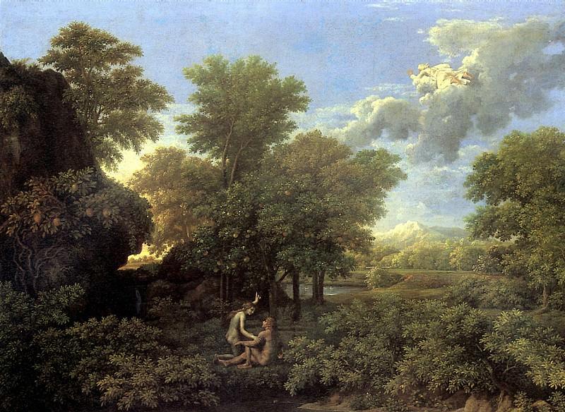 ПУССЕН НИКОЛА - Весна, или Рай земной.. Louvre (Paris)