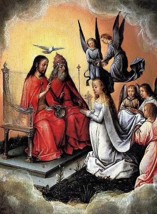 ЗИТТОУ МИХАЭЛЬ, РАНЕЕ ИЗВЕСТНЫЙ КАК МАСТЕР МИХИЭЛЬ - Коронование Богоматери, до 1504.. Louvre (Paris)