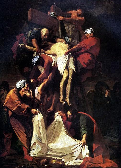 ЖУВЕНЕ ЖАН - Снятие с креста, 1697.. Louvre (Paris)