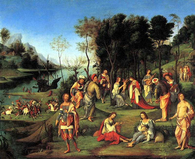 КОСТА ЛОРЕНЦО - Аллегория двора Изабеллы д′Эсте.. Лувр (Париж)