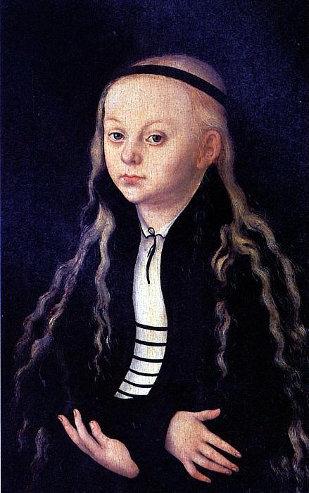 КРАНАХ ЛУКАС СТАРШИЙ - Портрет (вероятно, Магдалины Лютер).. Louvre (Paris)