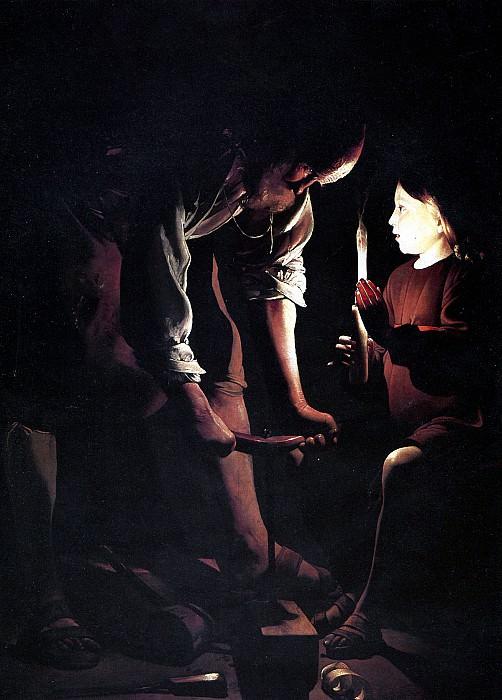 ЛАТУР ЖОРЖ ДЕ - Св. Иосиф-плотник.. Лувр (Париж)