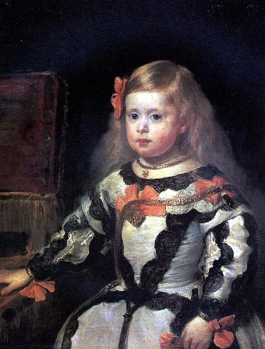 ВЕЛАСКЕС ДИЕГО РОДРИГЕС ДЕ СИЛЬВА - Инфанта Мария Маргарита, дочь короля Филиппа IV, короля Испании.. Louvre (Paris)