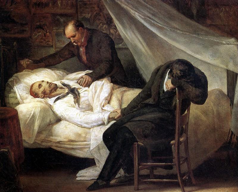 ШЕФФЕР АРИ - Смерть Жерико (26 января 1824 г.), 1824.. Louvre (Paris)
