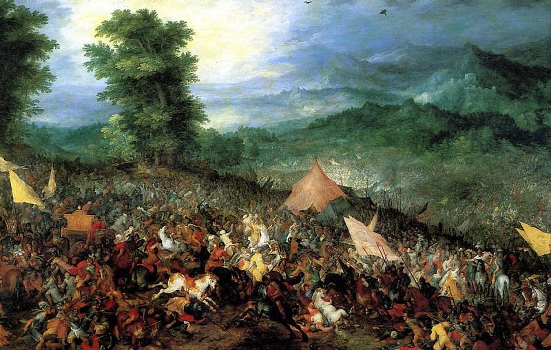 БРЕЙГЕЛЬ ЯН СТАРШИЙ, ПРОЗВАННЫЙ БРЕЙГЕЛЕМ БАРХАТНЫМ - Битва при Иссе, 1602.. Louvre (Paris)