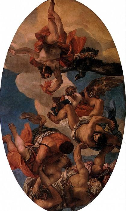 ВЕРОНЕЗЕ - Юпитер, бичующий пороки.. Лувр (Париж)