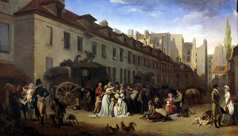 БУАЛЬИ ЛУИ ЛЕОПОЛЬД - Прибытие дилижанса, 1803.. Louvre (Paris)