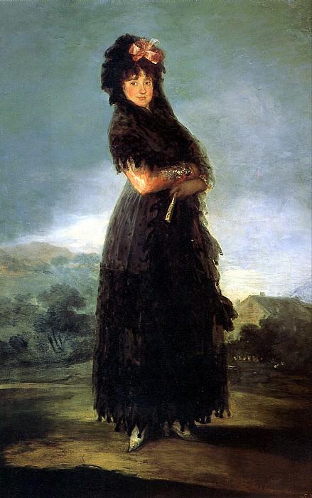 ГОЙЯ - Портрет Марианы Вальдштейн.. Louvre (Paris)