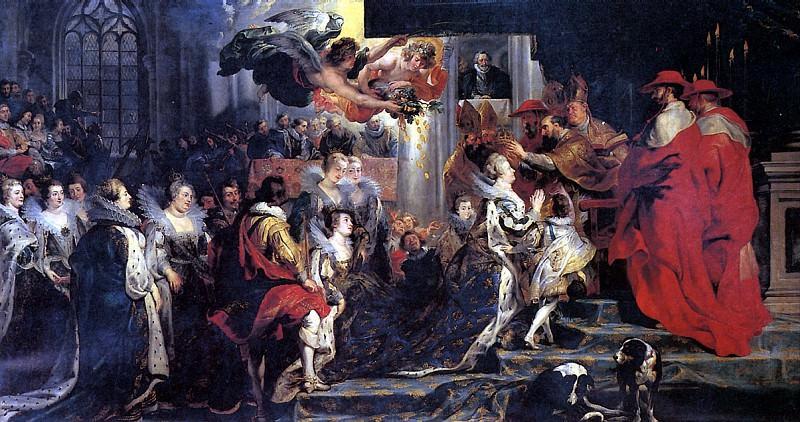 РУБЕНС ПИТЕР ПАУЭЛ - Коронация Марии Медичи.. Louvre (Paris)