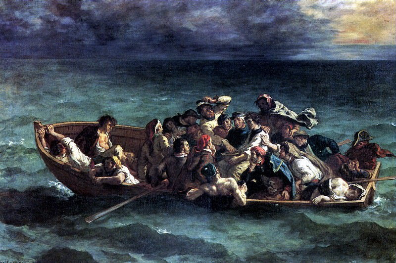 ДЕЛАКРУА ЭЖЕН - Кораблекрушение Дон Жуана, 1840.. Louvre (Paris)
