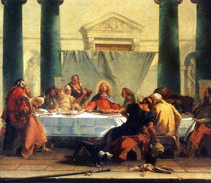 ТЬЕПОЛО ДЖОВАННИ БАТТИСТА - Тайная вечеря, ок. 1745-1750.. Louvre (Paris)