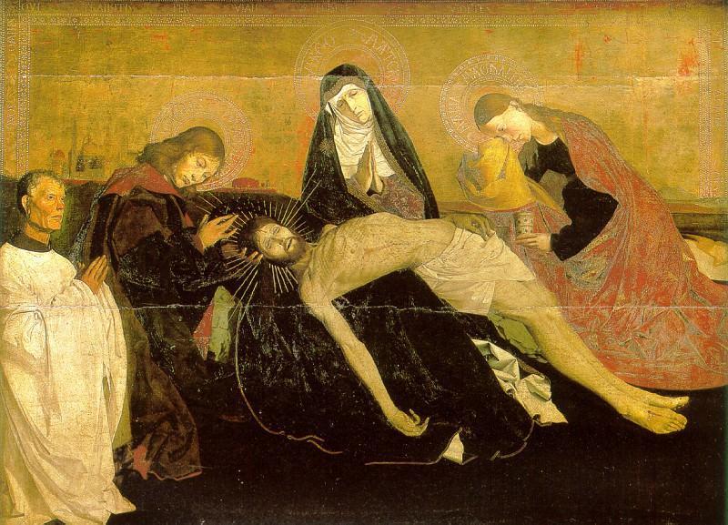 КАРТОН АНГЕРРАН - Оплакивание с донатором, известное как Пьета Вильнёв-лез-Авиньон.. Louvre (Paris)
