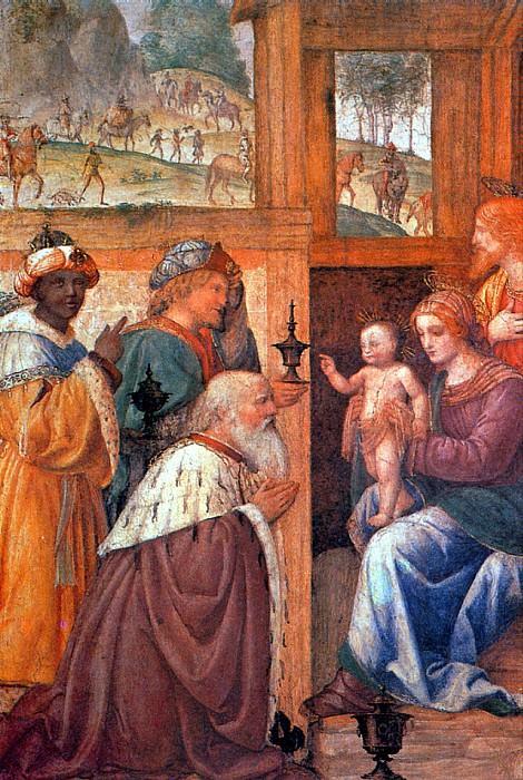 ЛУИНИ БЕРНАРДИНО - Поклонение волхвов.. Louvre (Paris)