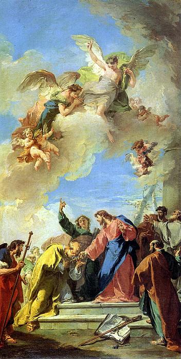 ПИТТОНИ ДЖОВАННИ БАТТИСТА - Христос, передающий св. Петру ключи от Рая.. Louvre (Paris)