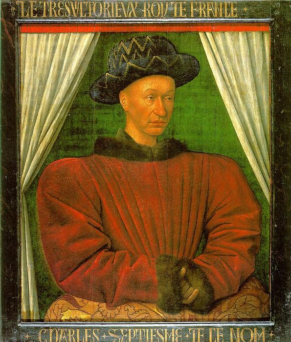 ФУКЕ ЖАН - Карл VII, король Франции.. Лувр (Париж)