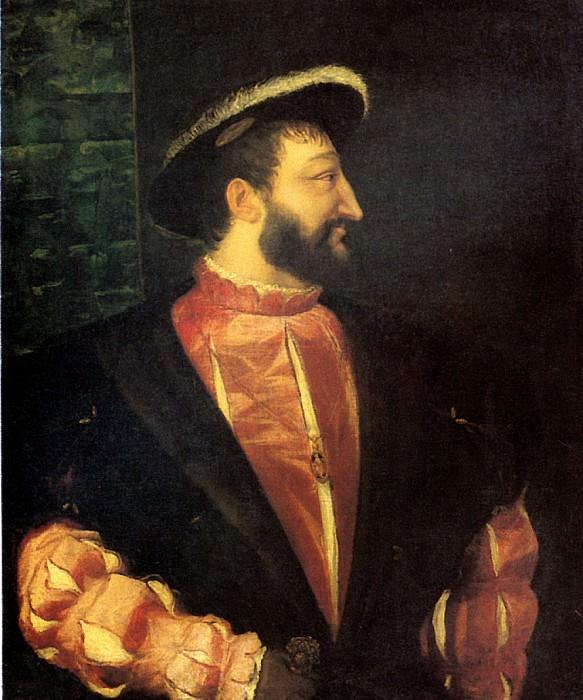 ТИЦИАН - Франциск I, король Франции, 1538.. Лувр (Париж)
