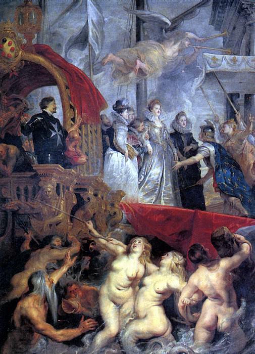 РУБЕНС ПИТЕР ПАУЭЛ - Прибытие Марии Медичи в Марсель.. Louvre (Paris)