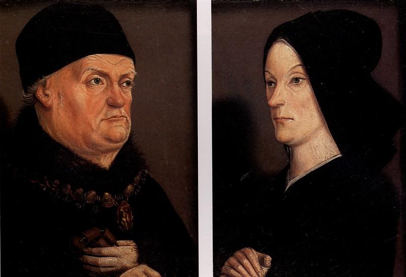 ФРОМАН НИКОЛА - Портреты короля Рене и Жанны де Лаваль, известный как диптих Матерон.. Louvre (Paris)
