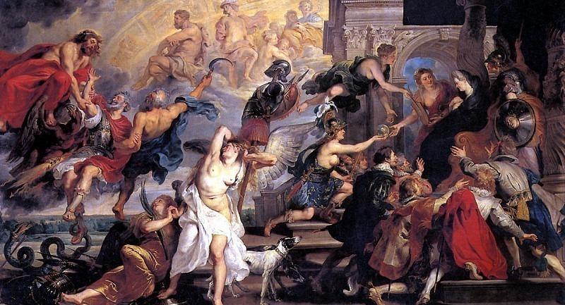 РУБЕНС ПИТЕР ПАУЭЛ - Апофеоз Генриха IV.. Louvre (Paris)