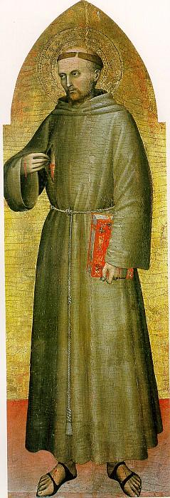 МИЛАНО ДЖОВАННИ ДА - Св. Франциск Ассизский, ок. 1360.. Louvre (Paris)