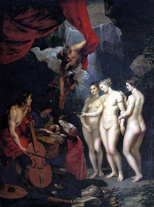 РУБЕНС ПИТЕР ПАУЭЛ - Воспитание Марии Медичи.. Louvre (Paris)