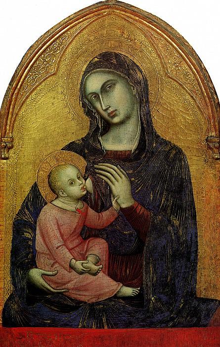 МОДЕНА БАРНАБА ДА - Богоматерь с младенцем.. Лувр (Париж)