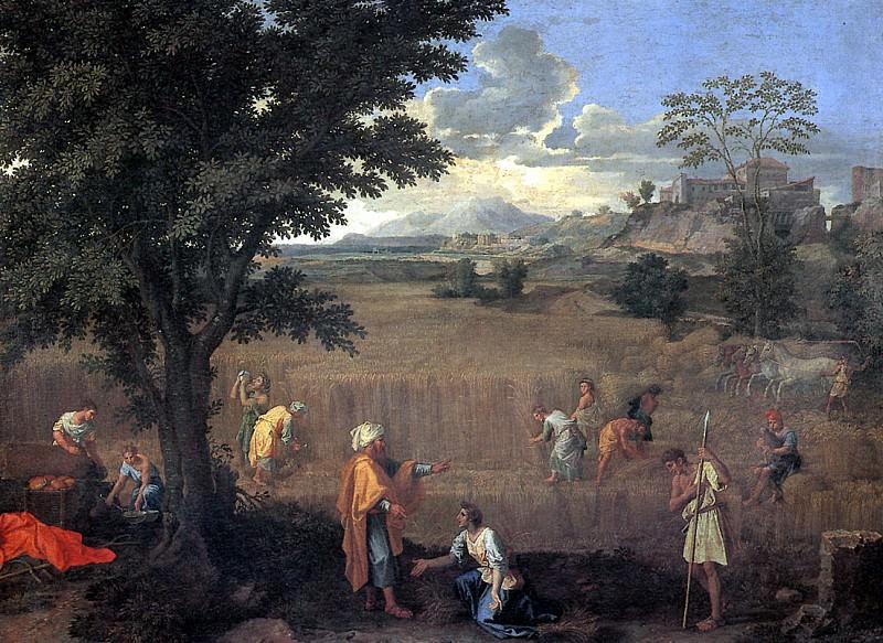ПУССЕН НИКОЛА - Лето, или Руфь и Вооз.. Louvre (Paris)