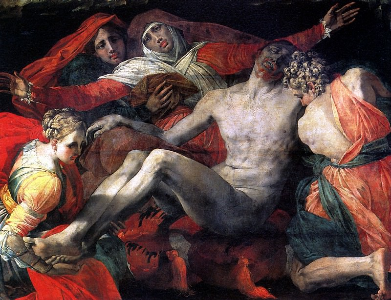 ЯКОПО ДЖОВАННИ БАТТИСТА ДИ, ПРОЗВАННЫЙ РОССО ФЬОРЕНТИНО - Пьета, 1530-1535.. Louvre (Paris)