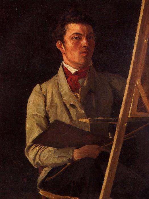 КОРО ЖАН БАТИСТ КАМИЛЬ - Автопортрет, 1825.. Louvre (Paris)