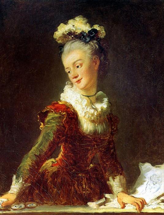 ФРАГОНАР ЖАН ОНОРЕ - Танцовщица Мари Мадлен Гимар, ок. 1769.. Louvre (Paris)