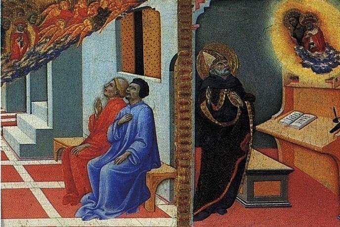 ПЬЕТРО САНО ДИ - Св. Иероним является Сульпицию Северу и св. Августину.. Лувр (Париж)